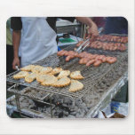 Grilling Sausages Empanadas Barbecue Charcoal Mousepads