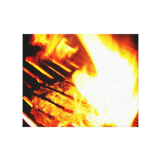 Grilling Steak Gallery Wrapped Canvas