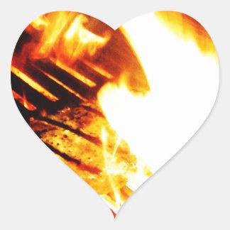 Grilling Steak Heart Sticker