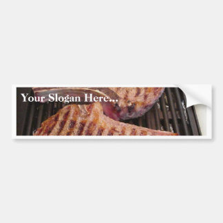 Grilling Steaks Food Dinner Bumper Stickers