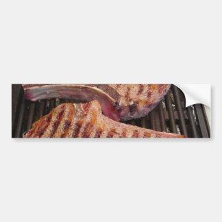 Grilling Steaks Food Dinner Bumper Sticker