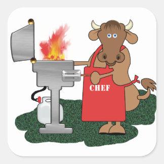 Grilling Square Sticker