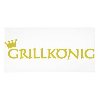 Grillkönig Customized Photo Card