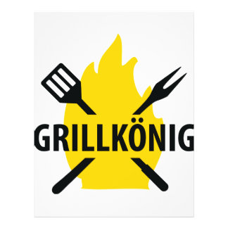 Grillkönig icon personalized flyer