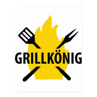 Grillkönig icon postcard
