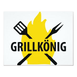 Grillkönig mit Flammen icon Card