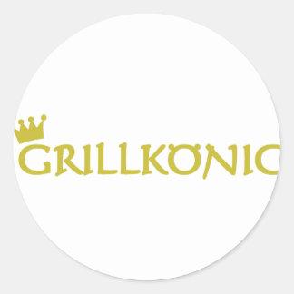 Grillkönig Etiqueta Redonda