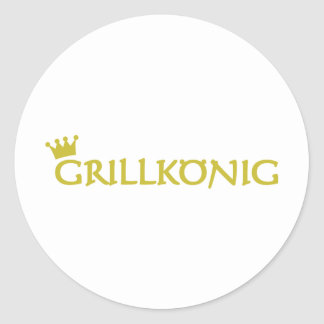 Grillkönig Classic Round Sticker