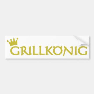 grillkönig text icon bumper sticker