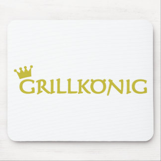 grillkönig text icon mouse pad