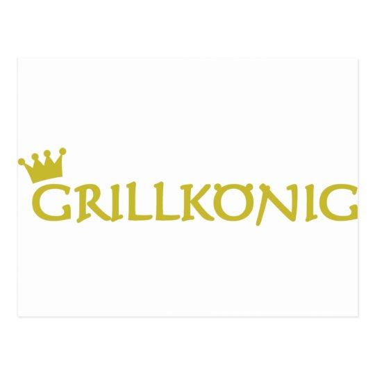 grillkönig text icon postcard