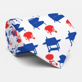 Grillmaster 4th of July Father's Day Tie