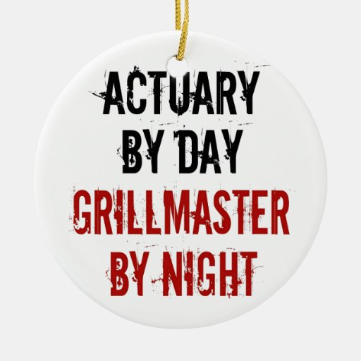Grillmaster Actuary Christmas Tree Ornaments