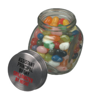 Grillmaster Assistant Principal Glass Candy Jars