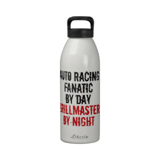 Grillmaster Auto Racing Fanatic Reusable Water Bottles