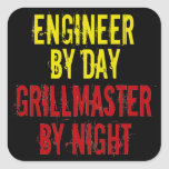 Grillmaster Engineer with Yellow Square Sticker