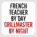 Grillmaster French Teacher Square Stickers