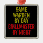 Grillmaster Game Warden Christmas Ornaments