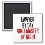 Grillmaster Lawyer 2 Inch Square Magnet