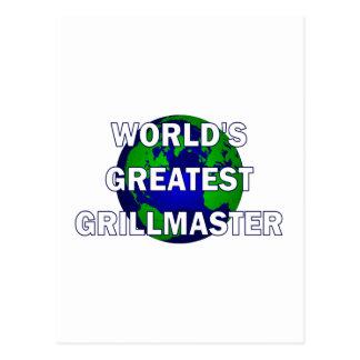 Grillmaster más grande del mundo postal