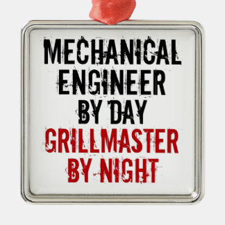 Grillmaster Mechanical Engineer Metal Ornament