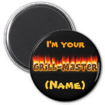 Grillmaster (personalizable) imán