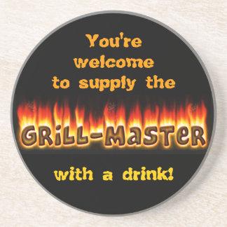 Grillmaster (personalizable) posavasos personalizados