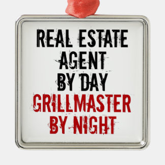 Grillmaster Real Estate Agent Metal Ornament