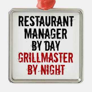 Grillmaster Restaurant Manager Metal Ornament