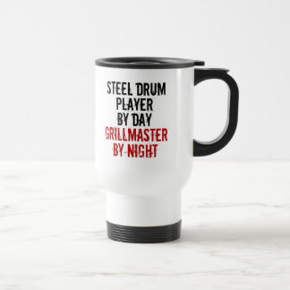 Grillmaster Steel Drum Player Travel Mug