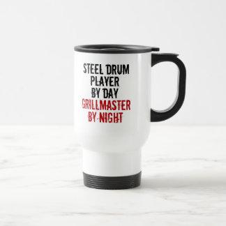 Grillmaster Steel Drum Player Travel Mug