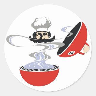 Grillmeister. Classic Round Sticker