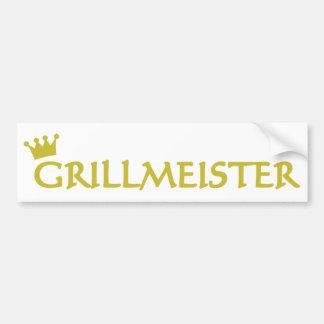 Grillmeister icon bumper sticker