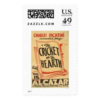 Grillo de Dickens en el hogar WPA 1938 Envio