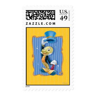Grillo de Jiminy que levanta su gorra Estampillas