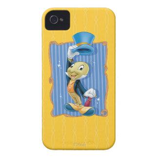 Grillo de Jiminy que levanta su gorra Case-Mate iPhone 4 Carcasas
