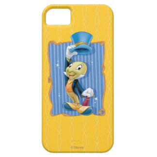Grillo de Jiminy que levanta su gorra iPhone 5 Case-Mate Funda