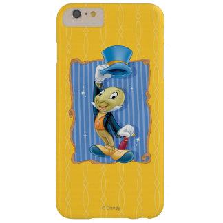 Grillo de Jiminy que levanta su gorra Funda Para iPhone 6 Plus Barely There