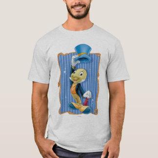 Grillo de Jiminy que levanta su gorra Playera