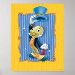 Grillo de Jiminy que levanta su gorra Poster
