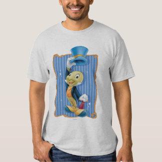 Grillo de Jiminy que levanta su gorra Remeras