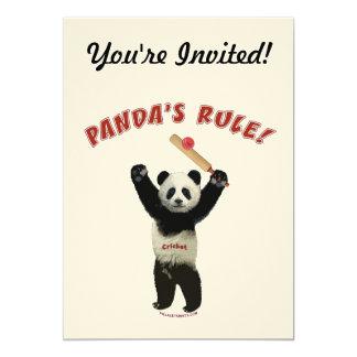 Grillo de la regla de las pandas invitacion personal