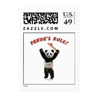 Grillo de la regla de las pandas sellos