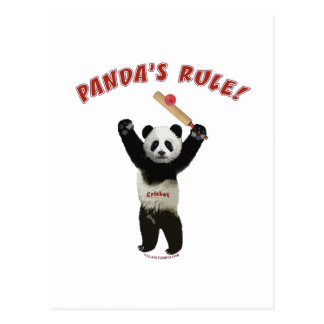 Grillo de la regla de las pandas tarjeta postal