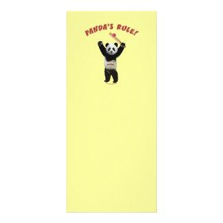 Grillo de la regla de las pandas tarjetas publicitarias a todo color