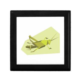 Grillo de Origami Joyero Cuadrado Pequeño