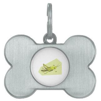 Grillo de Origami Placas De Mascota