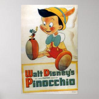 Grillo de Pinocchio y de Jiminy Póster