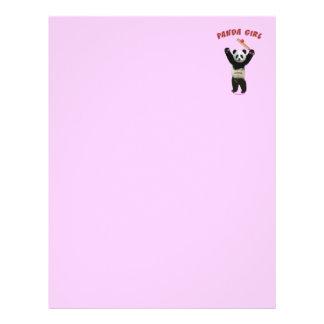 Grillo del chica de la panda flyer personalizado