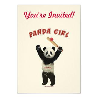 Grillo del chica de la panda invitacion personal